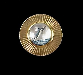 Art Deco 14K Gold Marlin Essex Crystal Brooch