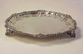 Marcus Georgian Sterling Silver Wine Coaster / Salver