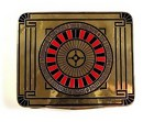 French Art Deco Enameled 18K Gold Roulette Money Case