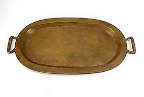Imperial Russian Medium Brass Oval Tray