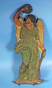 Painted Iron Sailor's Guardian Angel Plaque