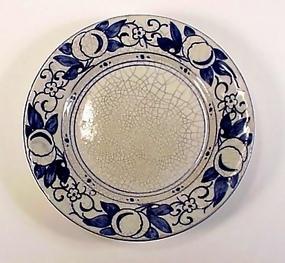 Dedham Art Pottery HORSE CHESTNUT 6� Plate