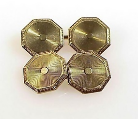 Edwardian 14K Yellow Gold Double Sided Cufflinks