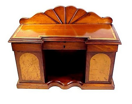 Victorian Inlaid Mahogany Miniature Sideboard Tea Caddy