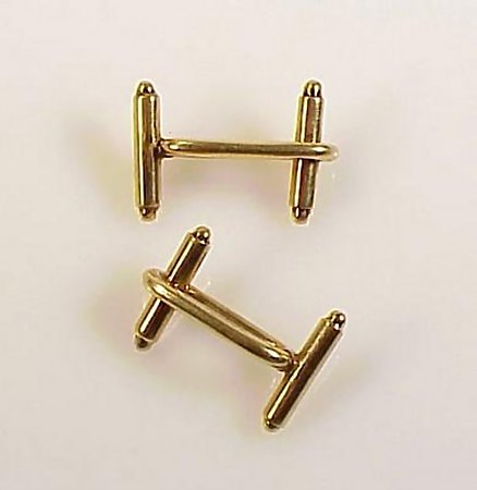 Art Deco 18K Gold Toggle Chain Link Cufflinks