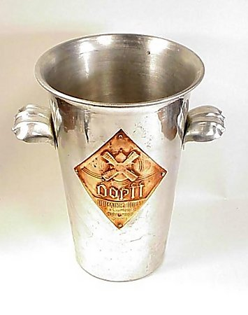 French Art Deco Spun Aluminum Dopff Champagne Bucket