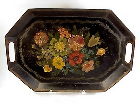 Late Victorian Tole Painted Tray