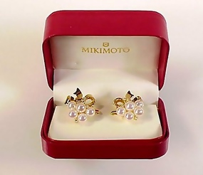Mikimoto 18K Gold, Diamond & AAA Pearl Earrings