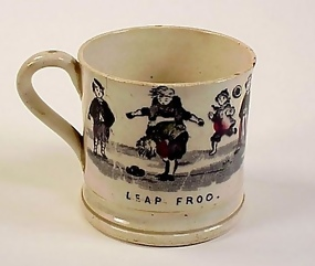 Staffordshire Pottery Child's Transferware Mug