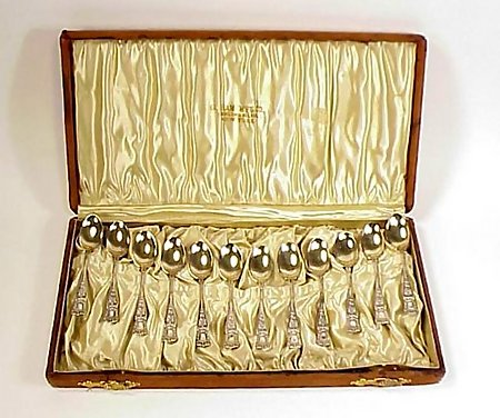 12 Gorham Sterling Silver MARYLAND Demitasse Spoons
