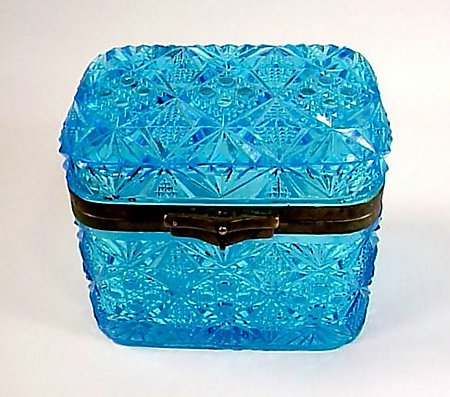 Imperial Russian Pressed Glass Tea Caddy
