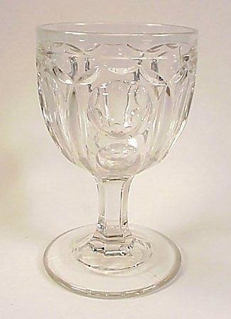 Early American Pattern Glass Flint WASHINGTON Goblet