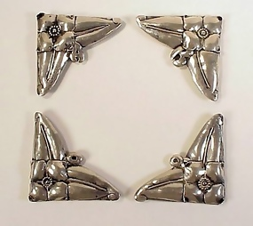 Important Arts & Crafts Sterling Silver Blotter Corners