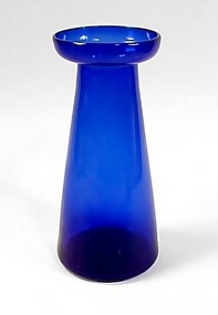 Victorian Cobal Blue Blown Glass Hyacinth Vase