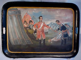 Georgian Tole Tray �Surrender of Quebec""
