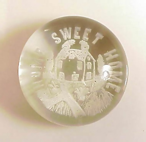 South Jersey �Home Sweet Home� Frit Glass Paperweight