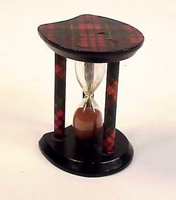 Victorian Tartanware Hourglass Egg Timer