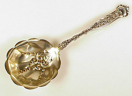 Whiting Sterling Silver DRESDEN Berry Casserole Spoon