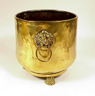 Imperial Russian Hammered Brass Jardiniere