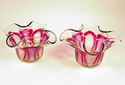 Pair Bohemian Art Nouveau Flower Form Bowls