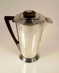 Art Deco Silverplate ILE DE FRANCE Cocktail Shaker