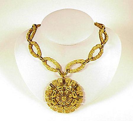 Signed Henry Dunay 18K Gold Necklace, Bracelet & Brooch