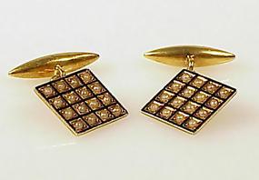 Victorian 18K Gold Enamel & Pearl Cufflinks