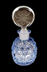 Art Deco Czech Cut Glass Perfume Bottle