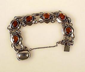 Kalo Workshop Sterling Silver & Citrine Bracelet