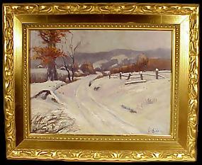 H. Don Donnell Pennsylvania Impressionist Snowscape