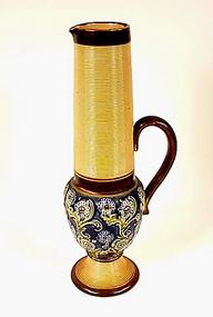 Art Nouveau Doulton Lambeth Stoneware Ewer