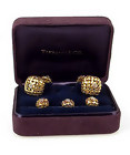Tiffany & Co. 18K Gold & Diamond Basketweave Dress Set