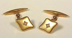 Victorian 18K Gold & Seed Pearl Cufflinks