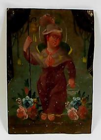19th Century Mexican Tin Retablo EL NINO DE ATOCHA