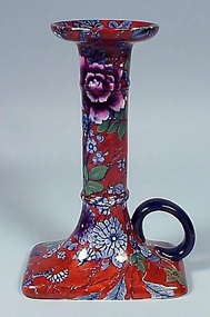Cauldon Chintz Pottery Chamber Stick