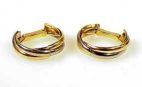Art Deco 18K Gold Cartier TRINITY Cufflinks