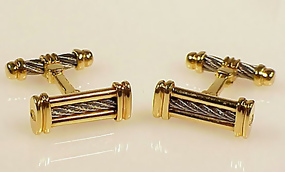 Philippe Charriol 18K Gold & Steel CELTIC Cufflinks