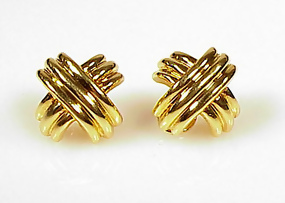 Tiffany & Co. �SIGNATURE� X-shaped  18K Gold Earrings