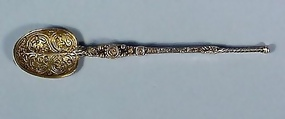 Gilt Sterling Silver George V Anointing Spoon