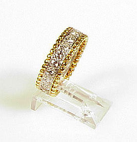 Van Cleef Platinum 18K Diamond ESTELLE Eternity Ring