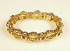 Vintage Tiffany & Co. 18K Yellow Gold Sapphire Bracelet
