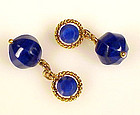18K Yellow Gold & Afghan Lapis Lazuli Cufflinks