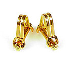 Vintage French 18K Gold Stirrup Cufflinks