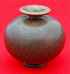 Beautiful Brown Miniature Vase by Berndt Friberg