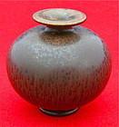 Beautiful Brown Miniature Vase by Berndt Friberg