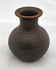 TOBO VESSEL WITH COMPLEX BROWN GLAZE