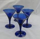 SET OF FOUR DECO GLASSES