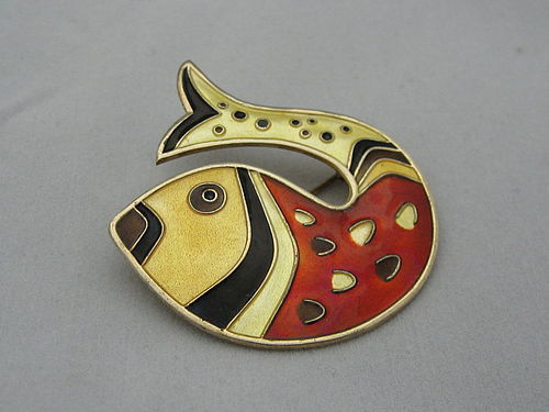 STERLING FISH PIN BY DAVID ANDERSEN
