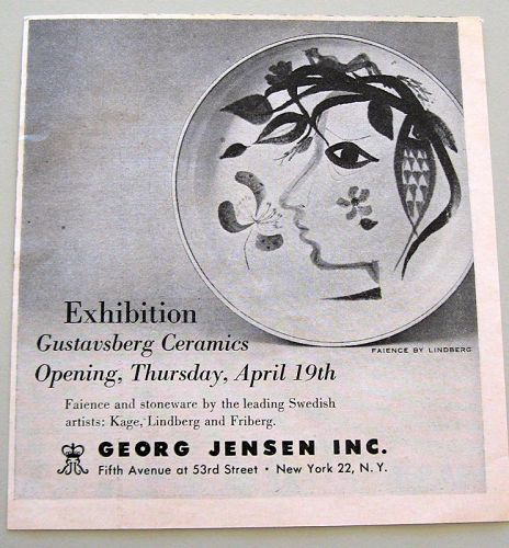 Vintage Advertising for Gustavsberg ceramics