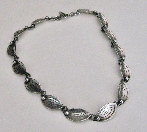 Aarre Krogh A & K Sterling Silver Necklace